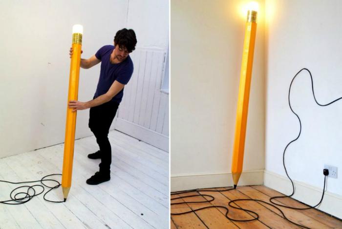 Креативный светильник в виде огромного карандаша от дизайнерской студии Michael & George.