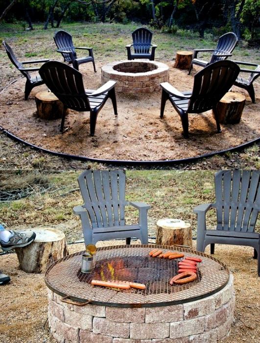 Красивое кострище со стульями.| Фото: Дом и Сад.