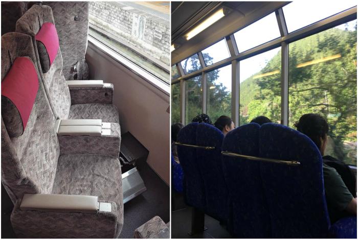 Поворотные сидения в поездах. | Фото: Reddit, Fishki.