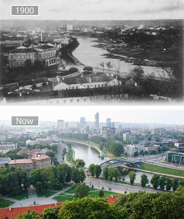 Вильнюс в 1990-ом и сейчас.