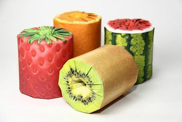 Туалетная бумага во «фруктовой» упаковке. | Фото: БигПикча.