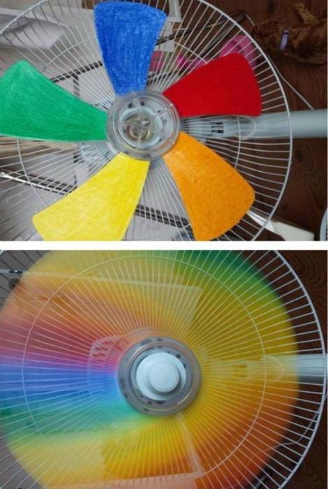 Яркий дизайн вентилятора.