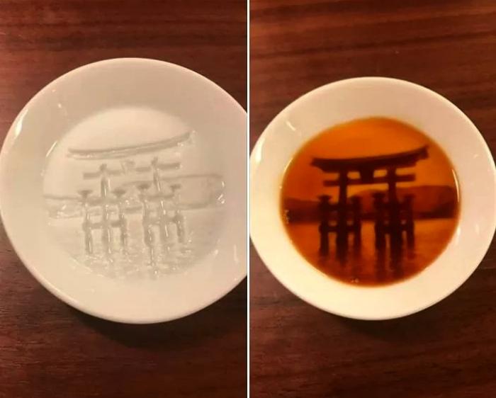 Произведение искусства в тарелке. | Фото: Foozine.