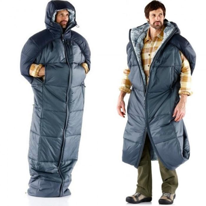 Куртка, которую можно использовать, как спальный мешок.