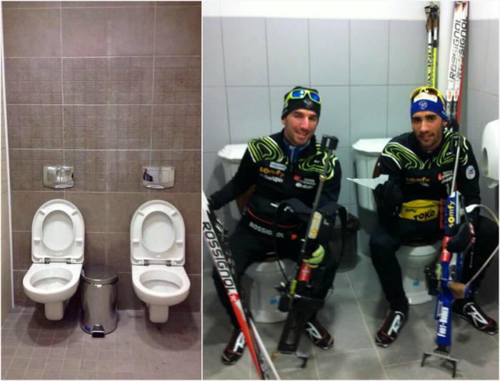 Двойные туалеты в Сочи.