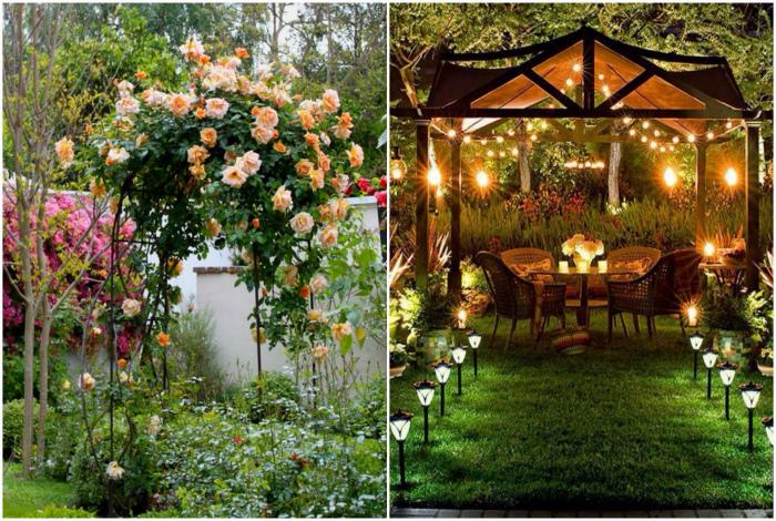 Беседки и арки в саду. | Фото: Rita Salgueiro, dim-sad-gorod.com.