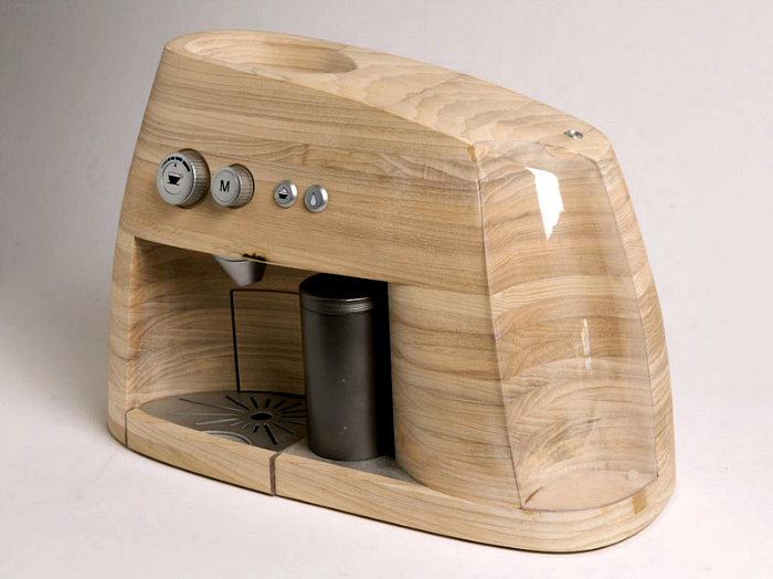 Деревянная кофеварка от дизайнера Oystein Helle Husby.
