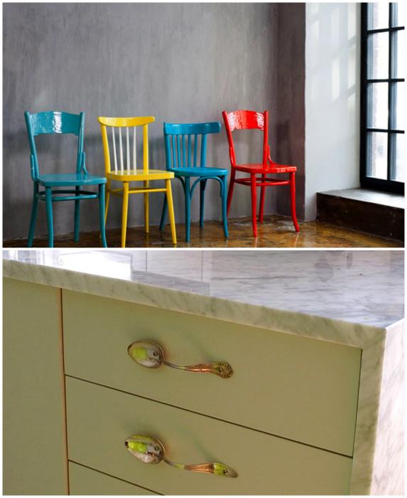 Мебель с историей и милые детали.