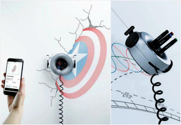 Робот-художник Scribit. | Фото: Scribit, Time.