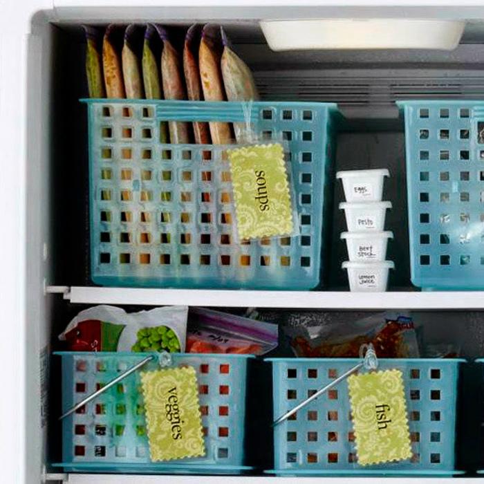 Хранение продуктов в морозилке.