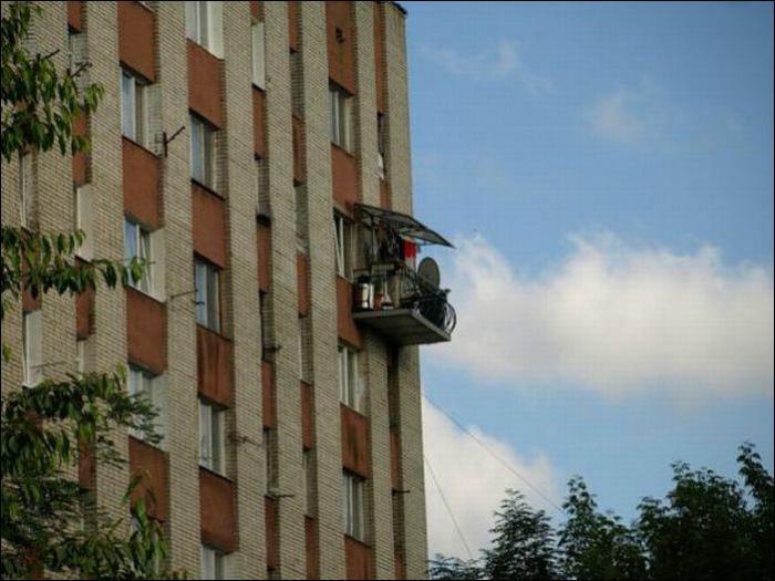 Балкон по блату.