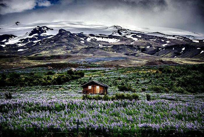 Жилой домик в Исландии.