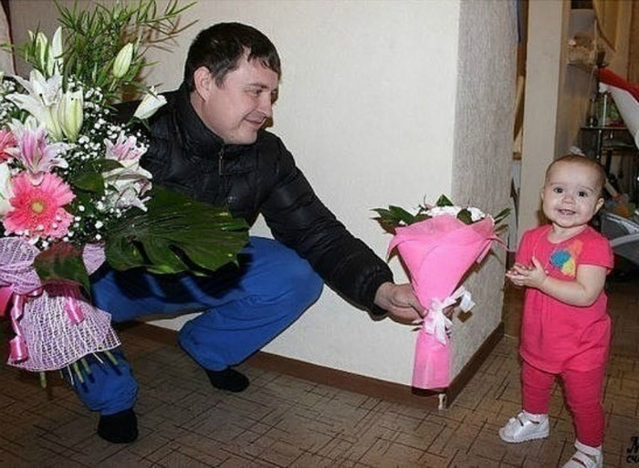 Цветочки для дочки.