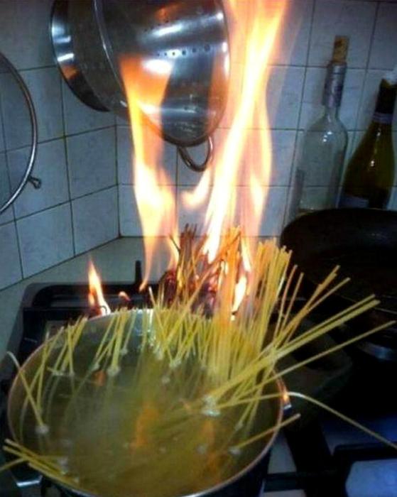 Спагетти по-мужски.