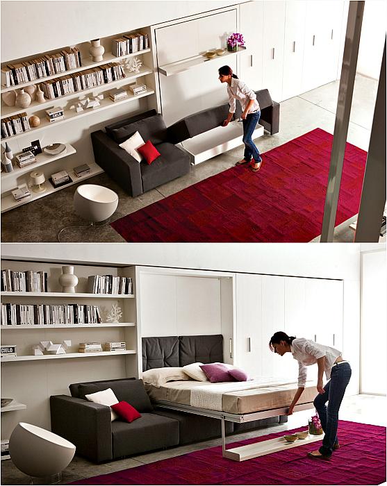 Подъемная кровать.