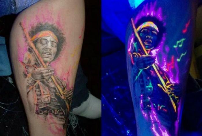 Татуировка с изображением Джими Хендрикса.