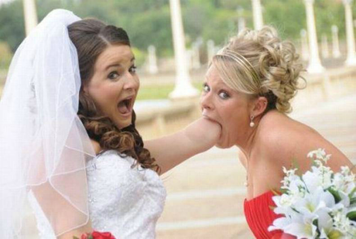 Свадебные снимки, которые не поставишь в семейный альбом