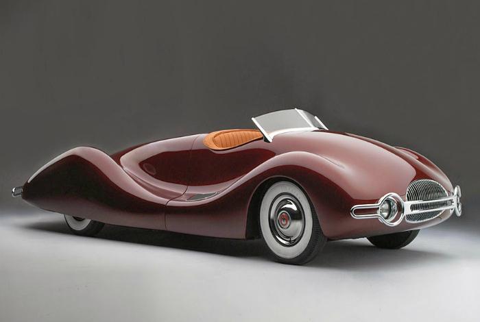 Buick Streamliner, выпущенный 1948, концептуально новая модель автомобиля того времени.