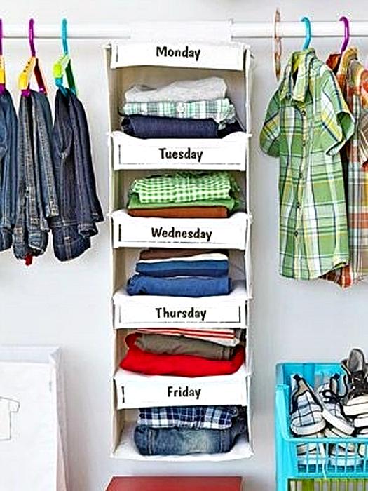 Потрясающая идея хранения одежды.