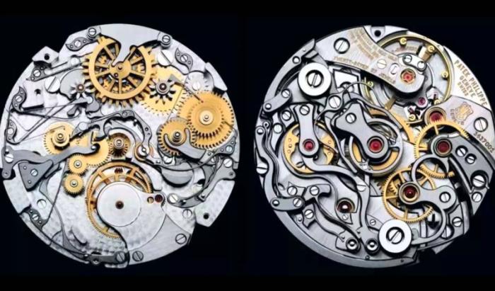 Внутренний механизм часов, созданных Патеком Филиппом.
