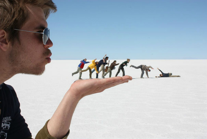 Постановочный групповой снимок.