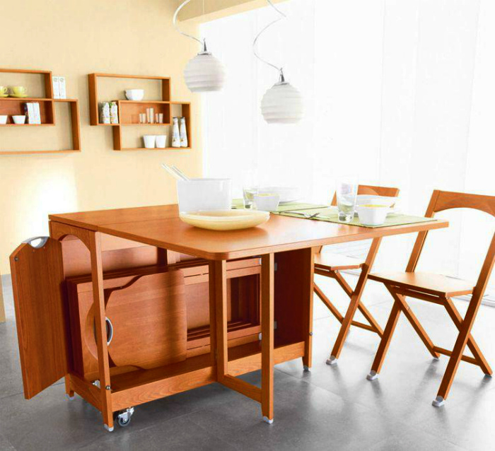 Раскладная мебель для кухни.   Фото: furniture-club.ru.