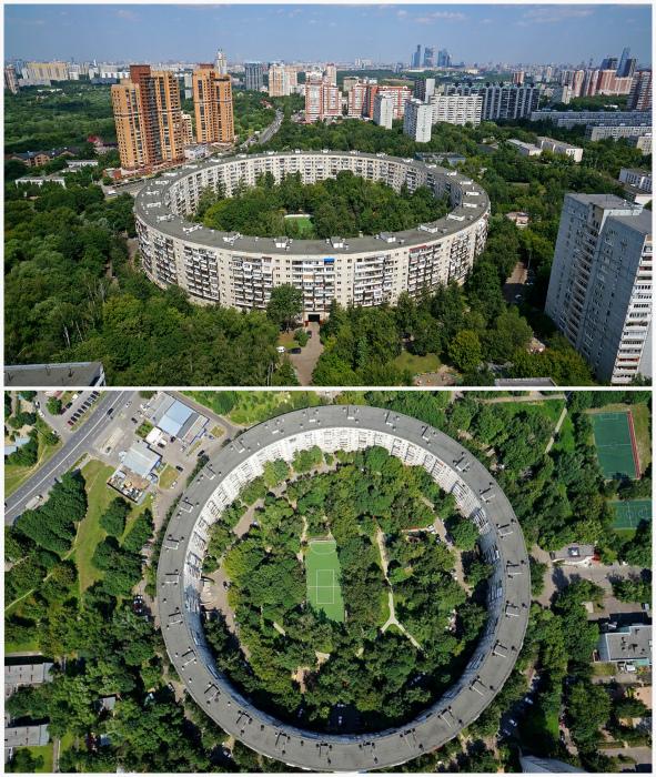 Несколько оригинальных круглых домов в Москве. | Фото: МойДом Журнал, Википедия.