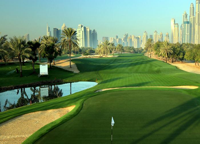 «Скромное» поле для гольфа.