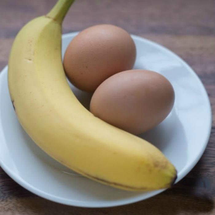 Бананы вместо яиц для теста.