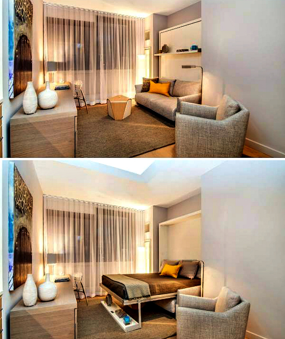 Кровать 2 в 1. | Фото: kvartira.mirtesen.ru.