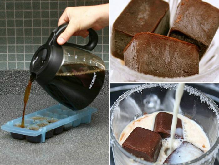 Кофейный лед, который можно добавлять в молоко или коктейли.