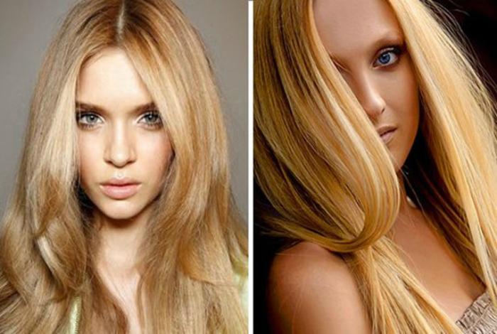 Выбирая светлый оттенок волос, следует отдать предпочтение теплым, натуральным цветам, таким как: медовый, пшеничный и золотистый.