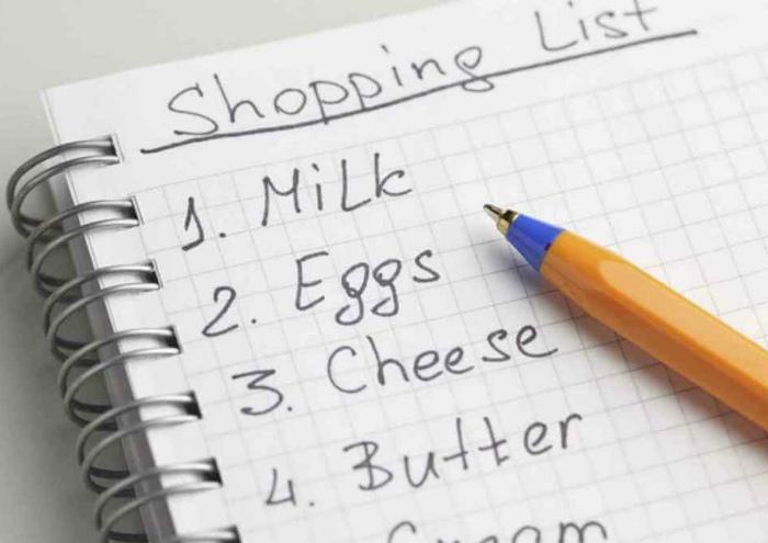 Список покупок.