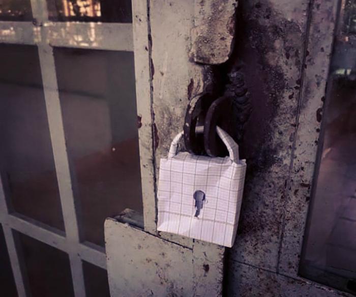 Замочек в клеточку. | Фото: Reddit.