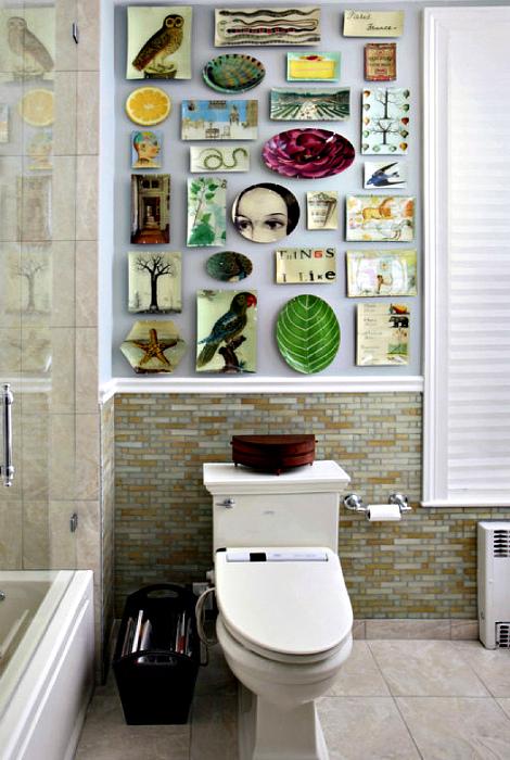 Тарелки на стенах. | Фото: Артишок.