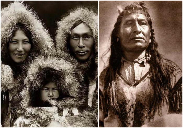 Предками индейцев были эскимосы.