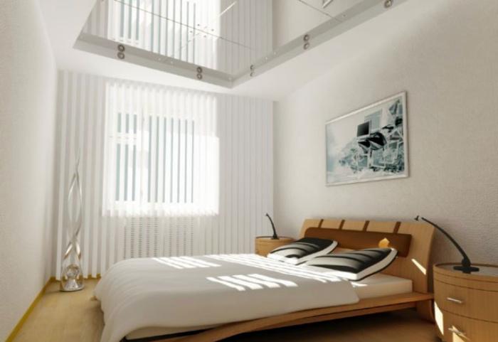 Небольшая спальня в стиле минимализм.