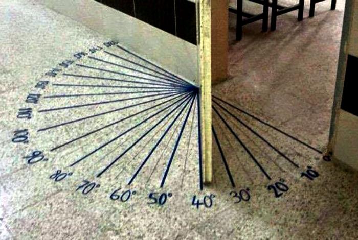 Вход в кабинет математики.