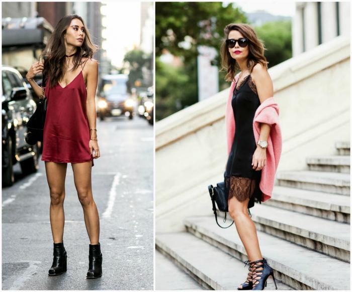 Платье в бельевом стиле.