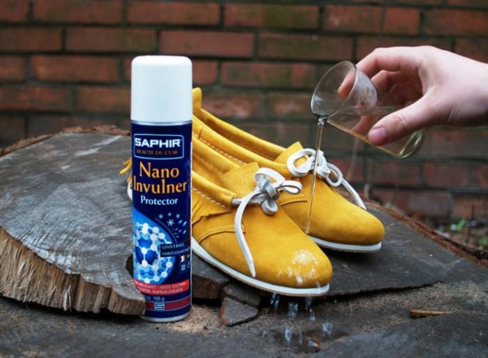 Водоотталкивающие средства для ухода за обувью.
