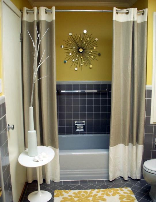Декоративные акценты в интерьере ванной комнаты.