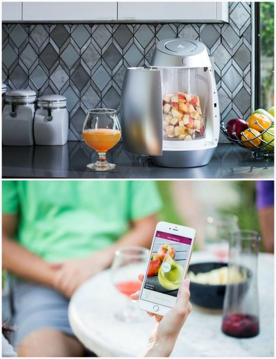 Alchema - аппарат для приготовления алкогольных напитков.
