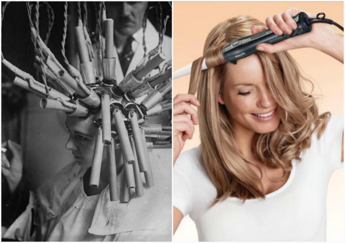 Устройства для завивки волос.