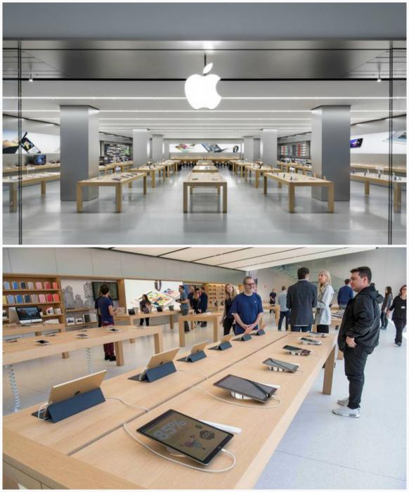 Магазины Apple store. | Фото: ChangeUA, Телеграф.