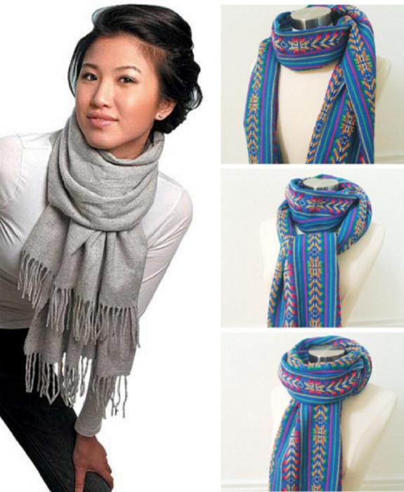 Длинный теплый шарф.