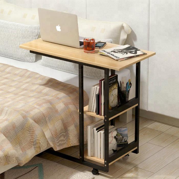 Мобильный прикроватный столик. | Фото: Pinterest.