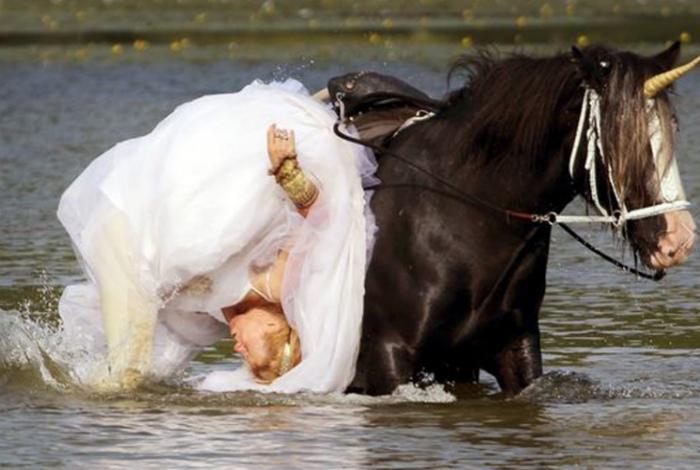 Волшебный конь-единорог.