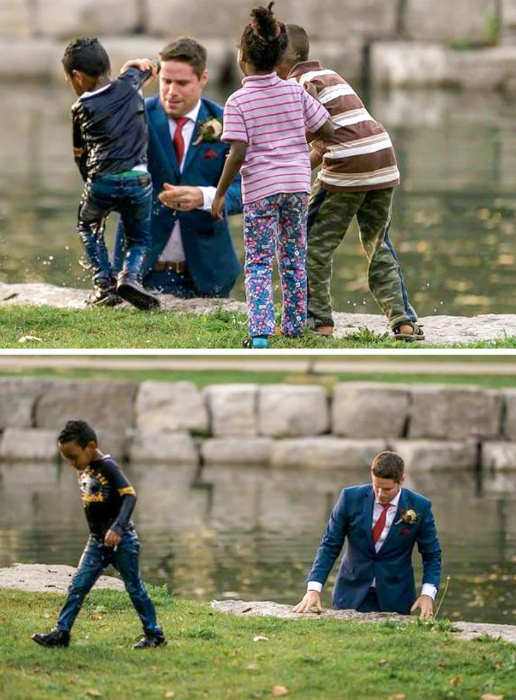 Спас мальчика и намочил штаны. | Фото: Pinterest.
