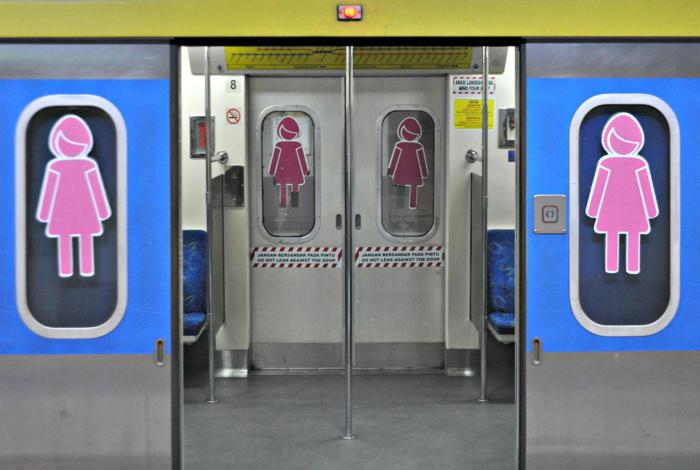 Вагоны, предназначенные исключительно для женщин. | Фото: 4tololo.ru.