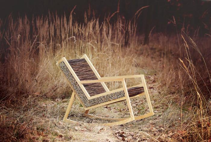 Дизайнерское кресло-качалка.